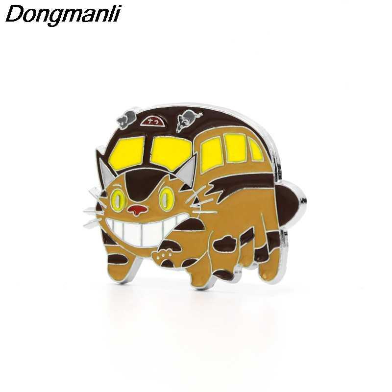 P2887 Dongmanli Gato De Metal Esmalte Pins e Broches para Mulheres Dos Homens de Lapela pin crachá mochila Fãs Presentes