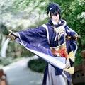 Mikazuki Munechika Cosplay Touken Ranbu Online Azul Samurai Uwowo Traje