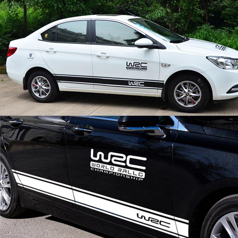 4PCS Car Stickers WRC World Rally Racing Sports Decals For VW Golf 5 6 7 Jetta MK5 MK6 MK7 CC Tiguan Passat B6 b7 Scirocco