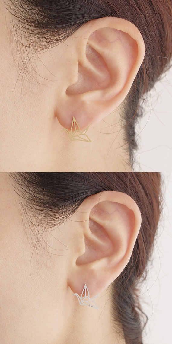 Jisensp น่ารักสัตว์สตั๊ดต่างหูผู้หญิงเครื่องประดับเด็กน่ารักใบหูต่างหูแฟชั่น Bird ต่างหูเจาะ Pendientes ของขวัญ