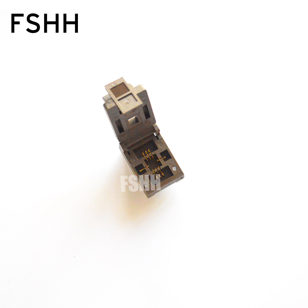 FSHH QFN6 WSON6 DFN6 MLF6 IC Test Socket Pitch=0.65mm Size=5x5mm tps61161drvr bzr qfn6 61161d