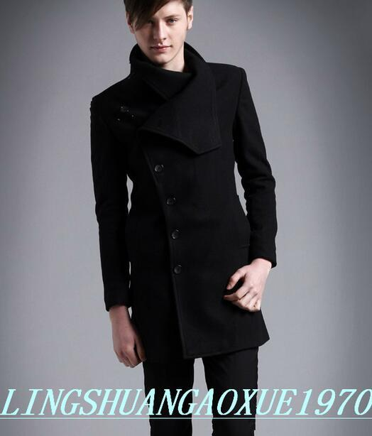 8714f5eb2e2 2017 new black autumn winter casual stand collar wool coat men coat Single breasted  overcoat men trench coat youth M 3XL-in Wool   Blends from Men s ...