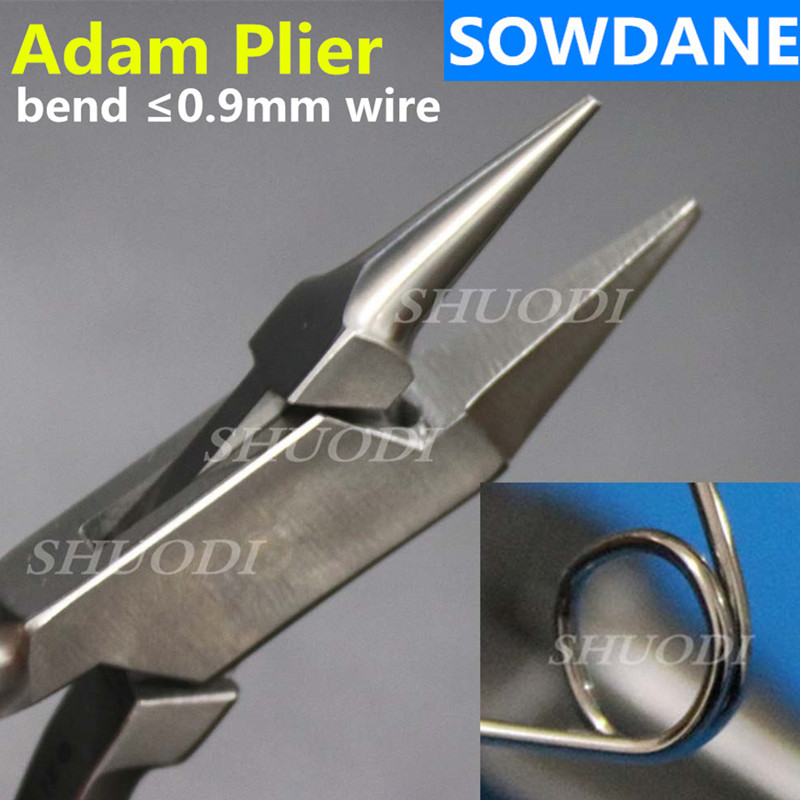 Dental New Laboratory Adam Wire Bending Bend  Wire Forming Pliers 13CM, Dental Orthodontic Plier Lab Tool For Max.0.9mm Wire