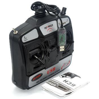 Controllore Simulatore Di Volo | Dynam 6-Channel USB RC Flight Simulator 6CH Modello Di Aeromobile Di Gioco Per PC Trainner