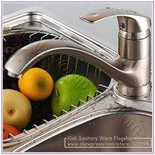 X8516K2-Роскошные бортике никель Матовый латуни смеситель для кухни