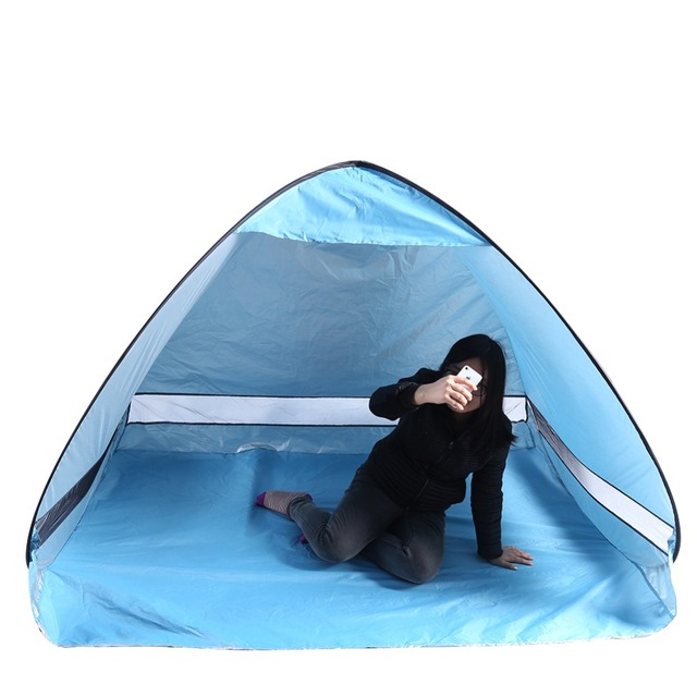Half Moon Style Door 2 Person Lightweight Camping Traveling Family Dome Tent With Carry