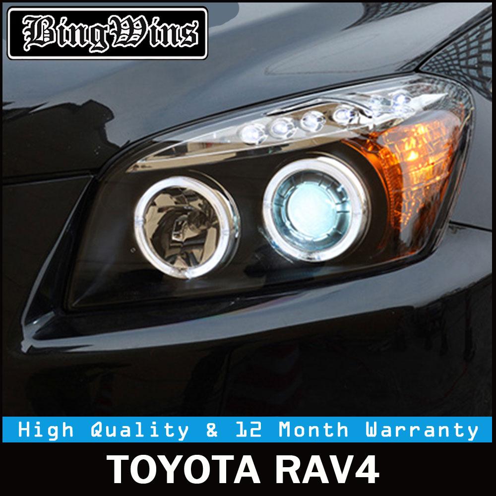 BEINGWINS Car Head lamp For Toyota RAV4 headlights 2009-2013 For RAV 4 LED Angel Eye DRL Q5 bi xenon lens h7 xenon Front light