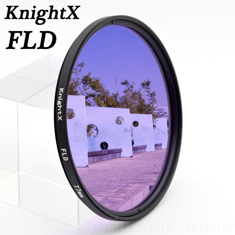 FLD Filter for Canon Nikon Sony Pentax Olympus  49mm 52mm 55mm 58mm 62mm 67mm DSLR SLR Camera lens KnightX  K