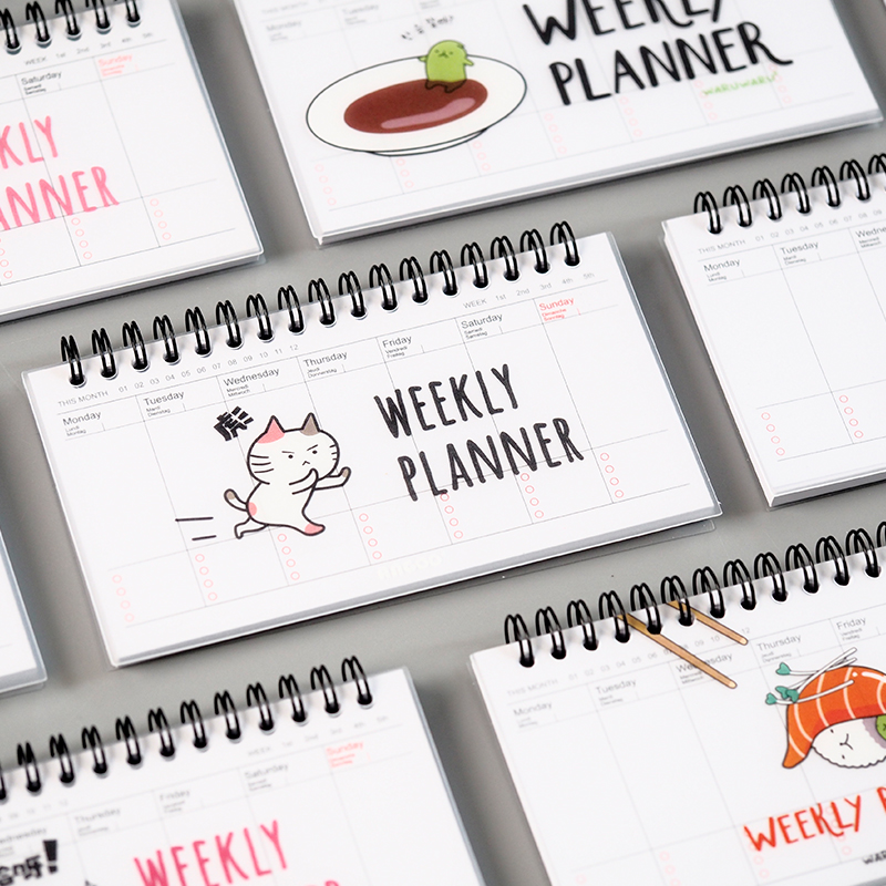 Nette Karikatur Wochenplaner Coil Notebook Zeitplan Agenda Filofax ...