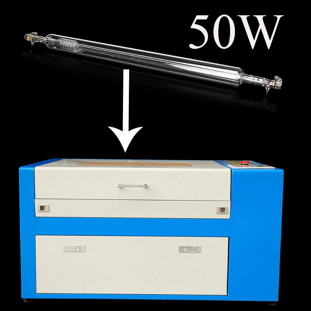 50W CO2 Laser Tube For Engraving Cutting Engraver Machine 800mm 22 MA 10.6μm