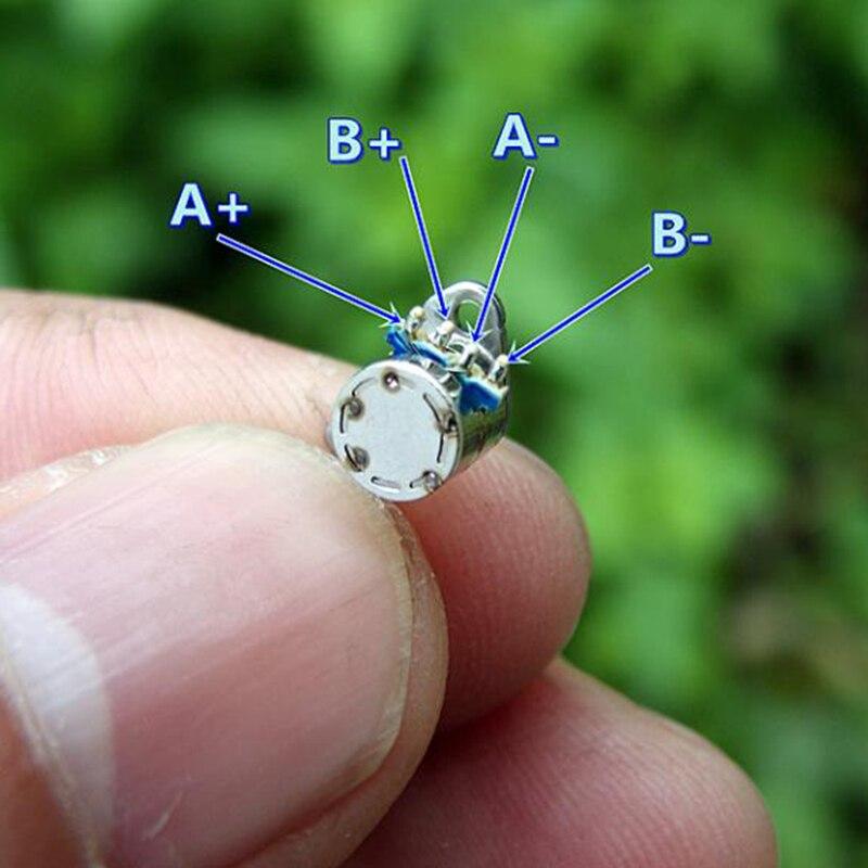 2 фазы 4 провода 30 Ом 5 мм Диаметр мини шаговый двигатель микро шаговый двигатель точность DIY камера часть