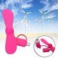 Chic mini micro usb porta ventilador elétrico ventilador de refrigeração ferramenta para o iphone para o android rosa vermelha