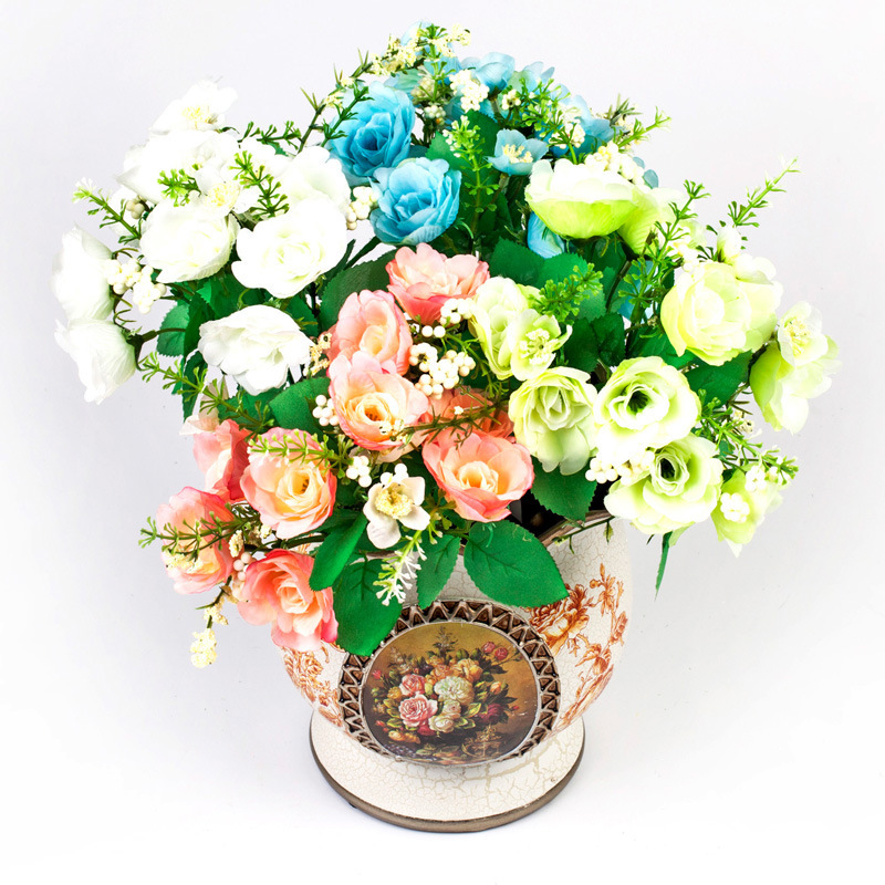 fake wedding flowers in bulk artificial begonia flowers flowers wedding car flower 4002