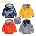 Kindstraum crianças quente jaqueta casual para meninos & meninas do bebê Ins Quente Grosso Casaco Outwear Marca Tendência Esportes Criança Sólida roupas, MC320