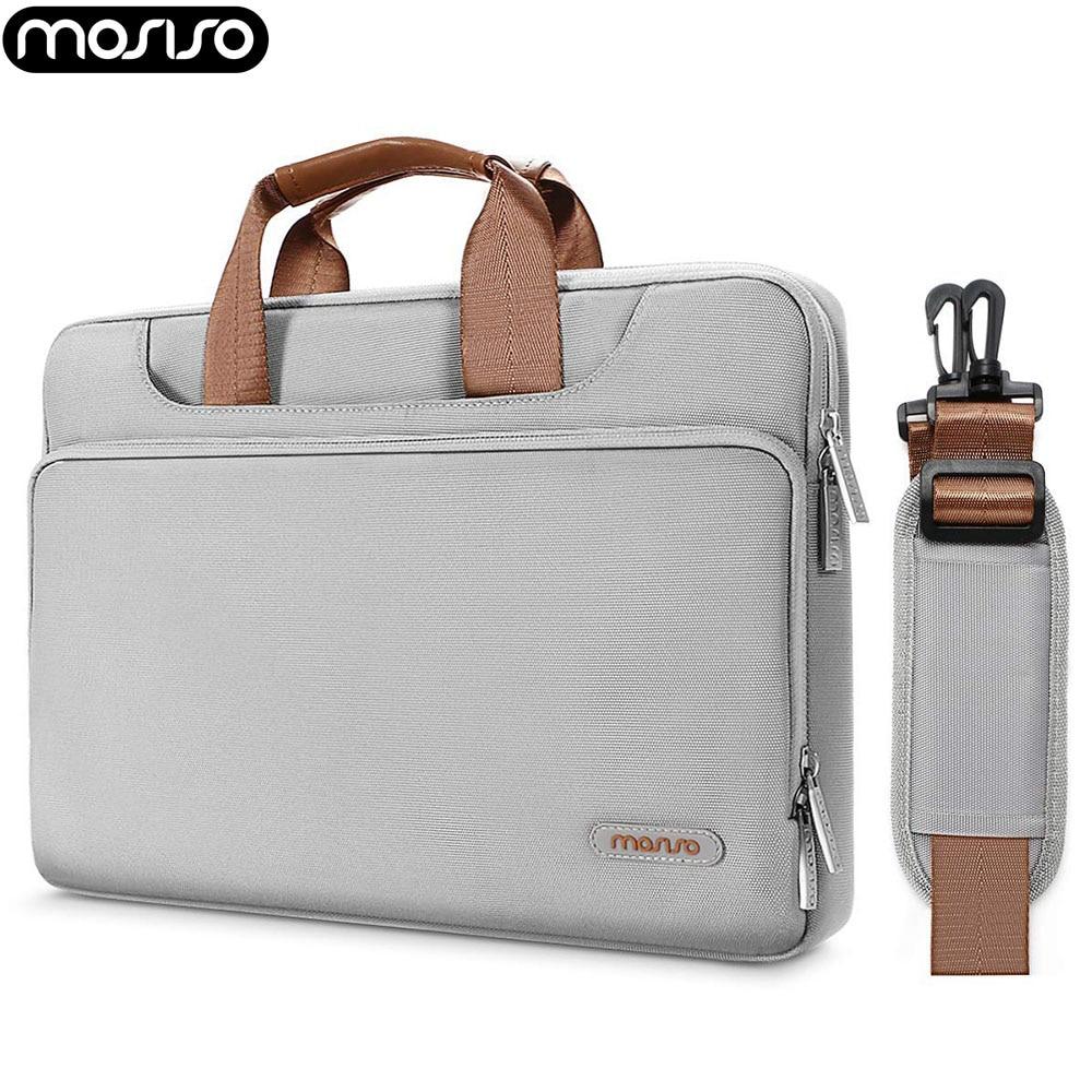 MOSISO Laptop Shockproof Belt Handbag for Macbook 13 15inch Notebook Dell Acer Surface Laptop 2 2018 Protector Shoulder Bag Men