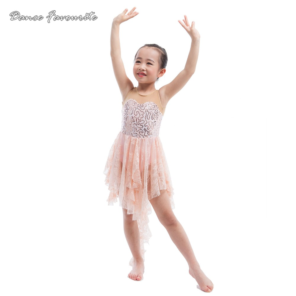 Sequin and lace with spandex bodice ballet dress women & girl Lyrical & contemporary dance costume ballet dancewear