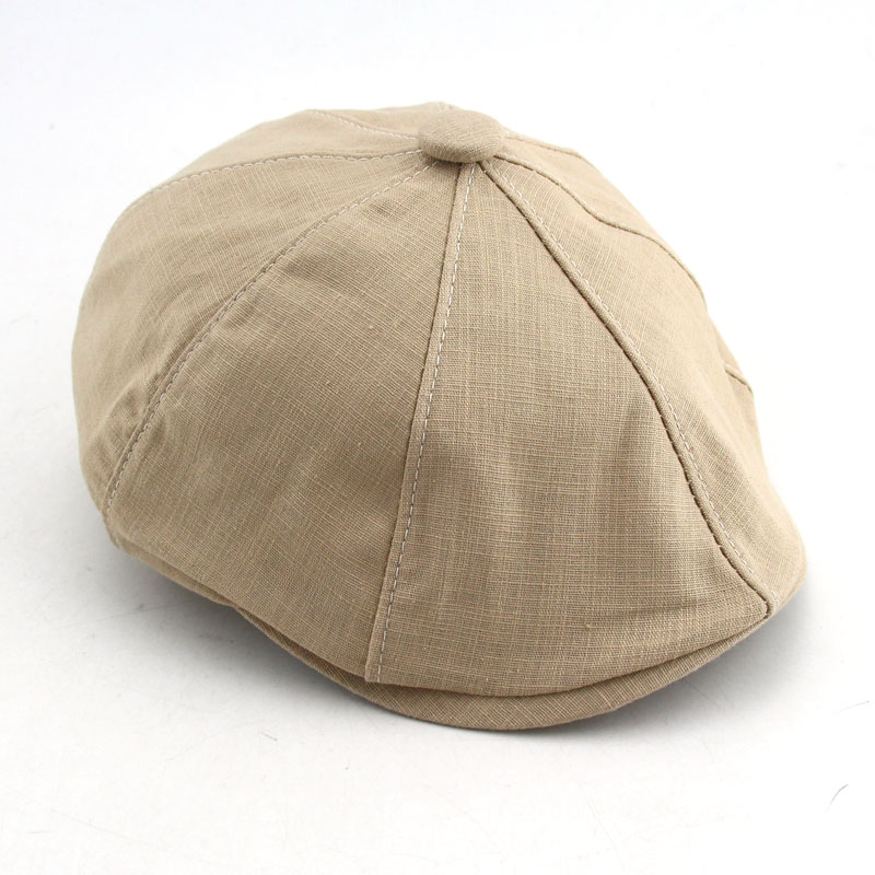c30874bb2 BFDADI 2018 Fashion Spring And Summer Newsboy Cap Size 57 58 59 60cm Thin  Linen Cap Breathable 5 Colors Hat For Men And Womem