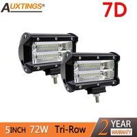 Auxtings Offroad 2PCS 5INCH 72W LED Work Light Bar Spotlight 12V 24V CAR TRUCK SUV ATV