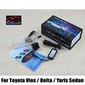 Para Toyota Vios / Belta / Yaris Sedan 2007 ~ 2013 / luz de aviso de alarme Laser luzes de nevoeiro da retaguarda lanterna traseira Auto acessórios Haze lâmpada