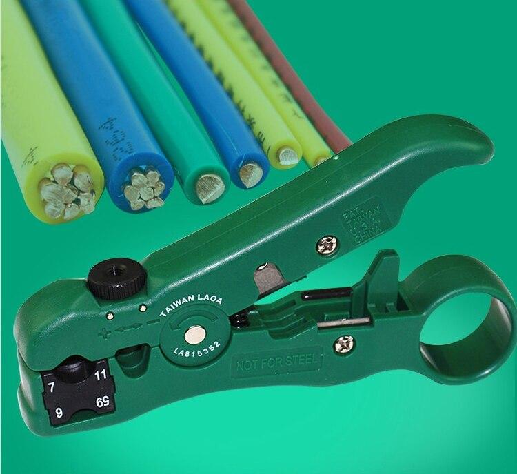 ჱLAOA Multifunction Wire Stripper Coaxial RG59,6,7,11 Blade ...