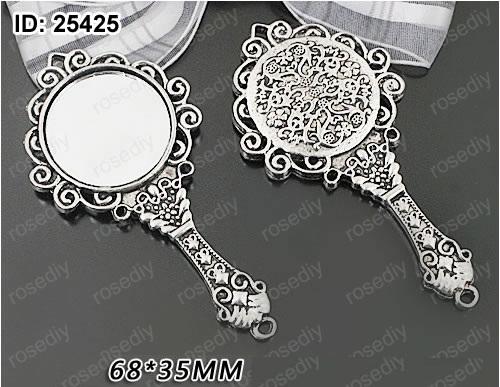 6pcs 35 68mm Ancient Bronze Silver Mirror Wholesale Accessory Metal Alloy Pendants Antique Vintage Home Jewellery Diy Decorative Mirrors Aliexpress