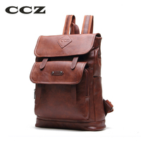 CCZ 2017 New Arrival Fashion Backpacks For Men Women PU Leather Backpack For Travel School Bag
