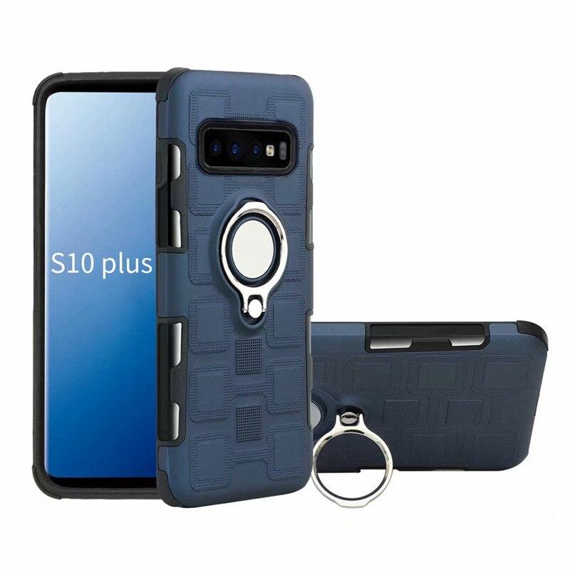 Back Case For Samsung Galaxy S10 Plus S10e Case Cover Protector Finger Ring Coque For Samsung Galaxy S10 Case Fundas