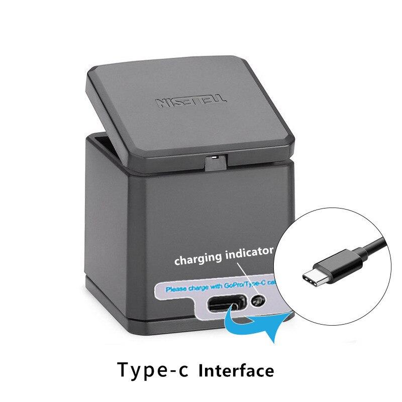 1pcs 3-way Battery Charger Charging Storage box + 2pcs 1220MAH AHDBT-501 Batteries For GoPro Hero 5 7 Black Hero 6 Camera (6)