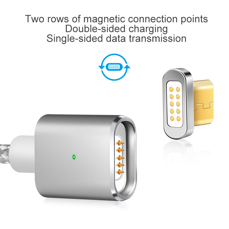 elough e03 magnetic micro usb cable charger for fast charging and magnetic data cable for phones