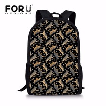 FORUDESIGNS School Bags for Teenger Girls German Shepherd Printing Bag Children Shoulder Backpack Kids Satchel