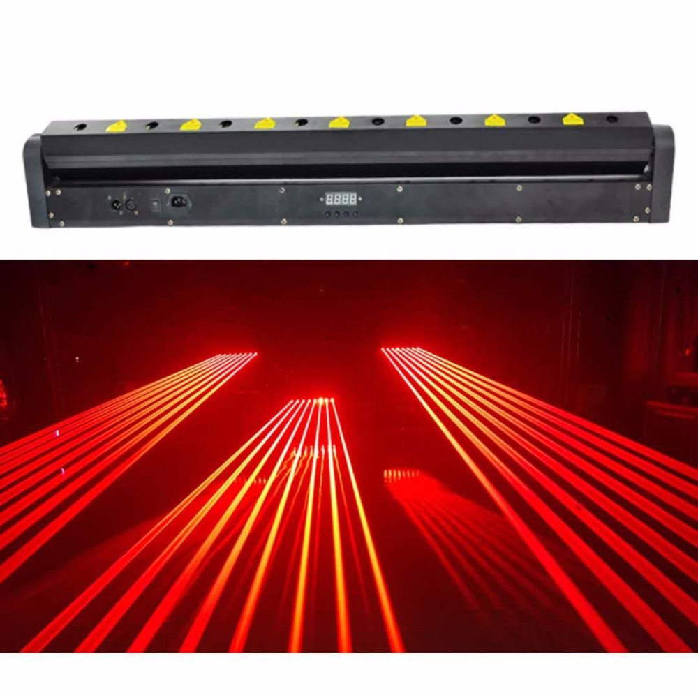 1200MW Moving Head RED Laser Array R650NM-150mW Rough SpotX8PCS Stage Party Disco KTV Bar Club Theatre Studio Iluminacion Light