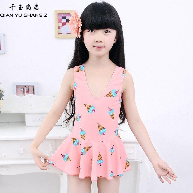 qsyz one piece v collare vestito delle ragazze costumi da bagno backless della ragazza costume da
