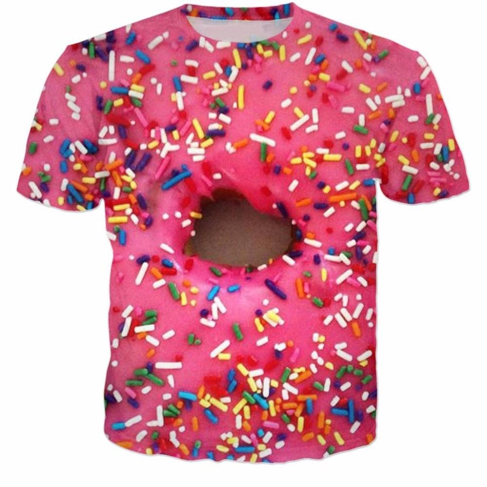 Aliexpress.com : Buy Donut Shirt 3d t shirt pink colorful shirt ...