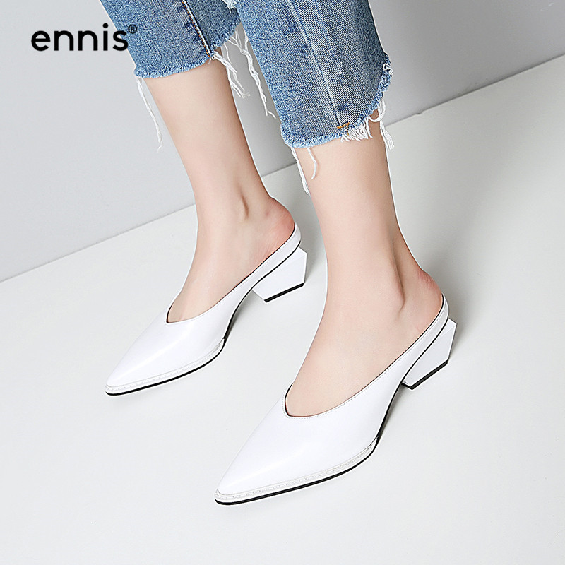 3b8349a30 ... Strange Heel Slip On Fashion Mules Shoes Europe Designer Slides M707.  Size:34-39. Heel:6cm. Upper Material:Cow Leather. Lining:Microfiber. M70701  ...