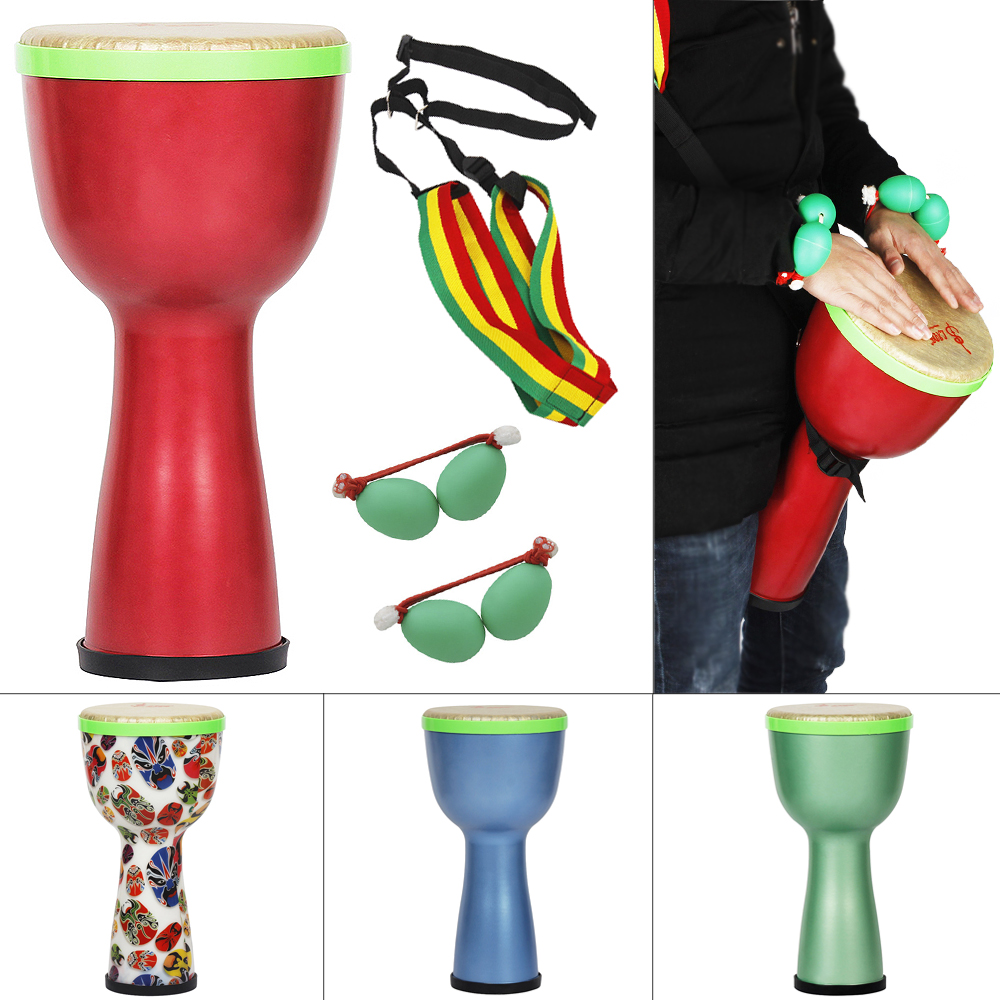 8  Inch African Drum ABS Material Lightweight Design Djembe Drum with Shaker Eggs and Shoulder Strap8  Inch African Drum ABS Material Lightweight Design Djembe Drum with Shaker Eggs and Shoulder Strap