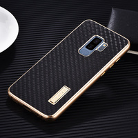 For Samsung Galaxy S9 Plus Case Luxury Metal Aluminum Bumper Cover Carbon Fiber Protect Phone Cases For Samsung Galaxy S9 Case
