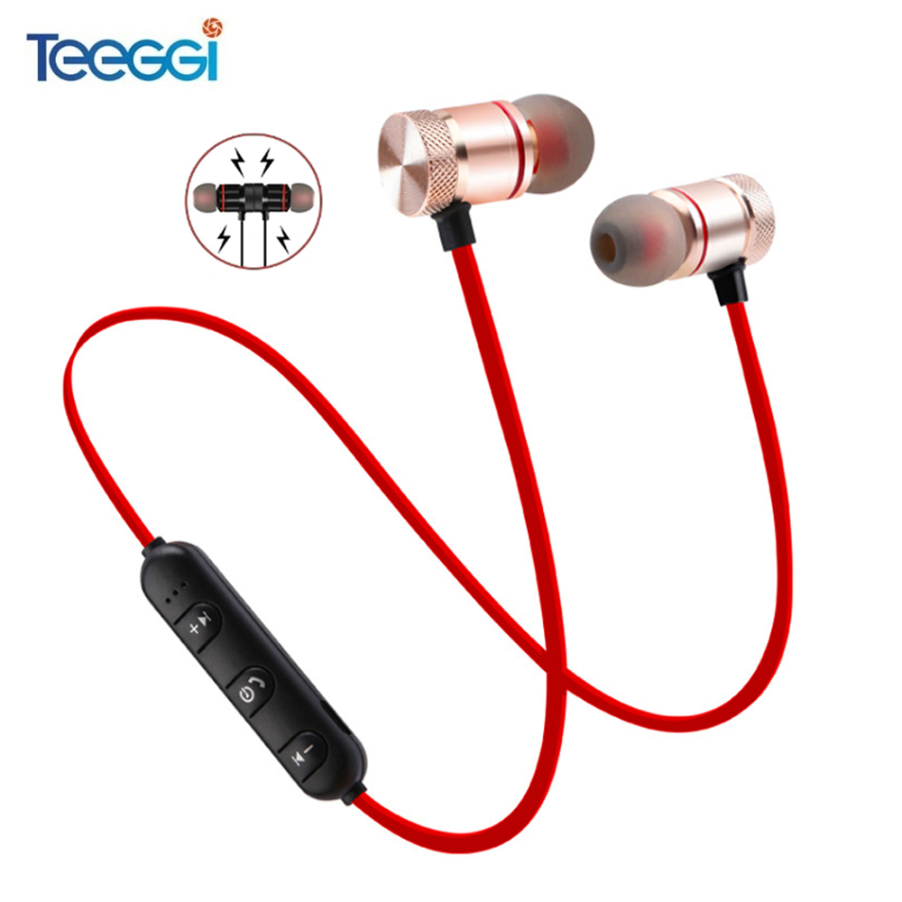 Magnetic Bluetooth Earphone Sport Wireless Headphone Headset Handsfree Earbuds With Microphone For Huawei Xiaomi Samsung(China)