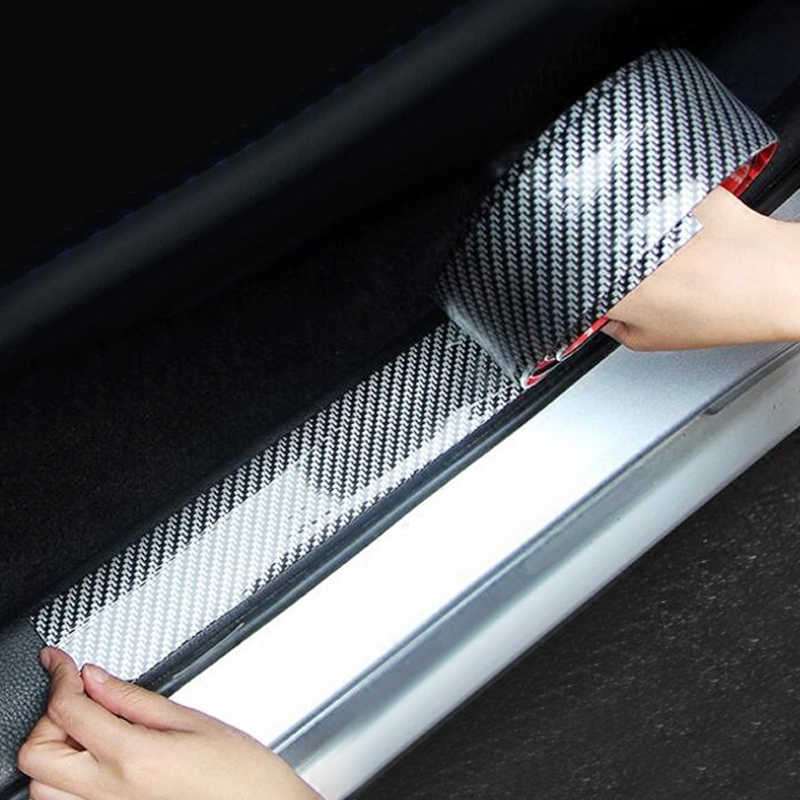 Car Stickers 5D Carbon Fiber Rubber Styling Door Sill Protector Goods For KIA Toyota BMW Audi Mazda Ford Hyundai Accessories