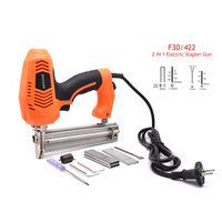 2 In 1 Woodworking Framing Tacker F30 422J Electric Nailer Stapler Gun With 600Pcs Nails For Woodworking Hand Tool