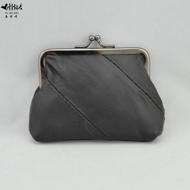 Coin Purses & Holders Womens Genuine Leather Kiss Lock Coin Organizer Purse Fashion Mini Wallet Id Credit Cards Cash Coin Holder Case In Many Styles Coin Purses