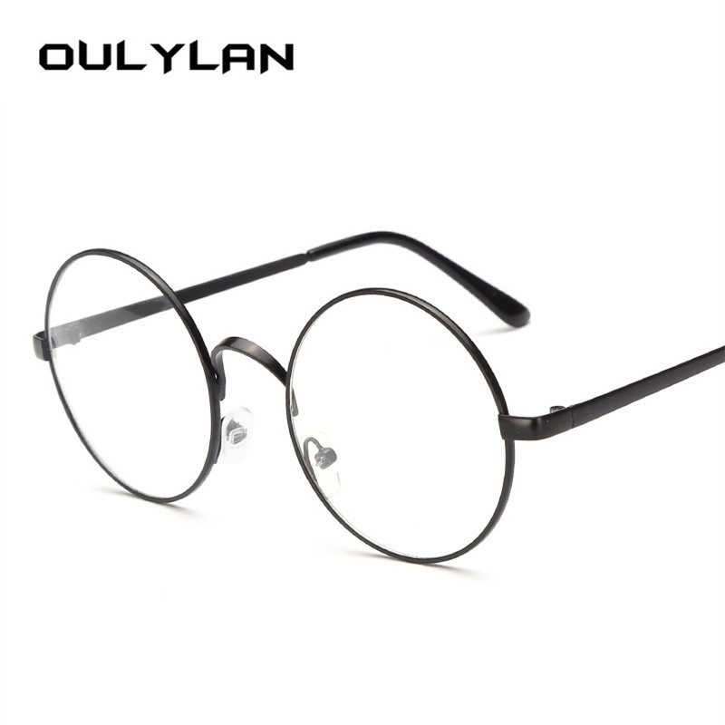 2c81f4d669a6 Oulylan Round Spectacle Glasses Frames for Men Harry Potter Glasses With  Clear Glass Women Myopia Optical