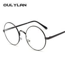 Oulylan Round Spectacle Glasses Frames for Men Harry Potter Glasses With Clear Glass Women Myopia Optical Transparent Glasses(China)