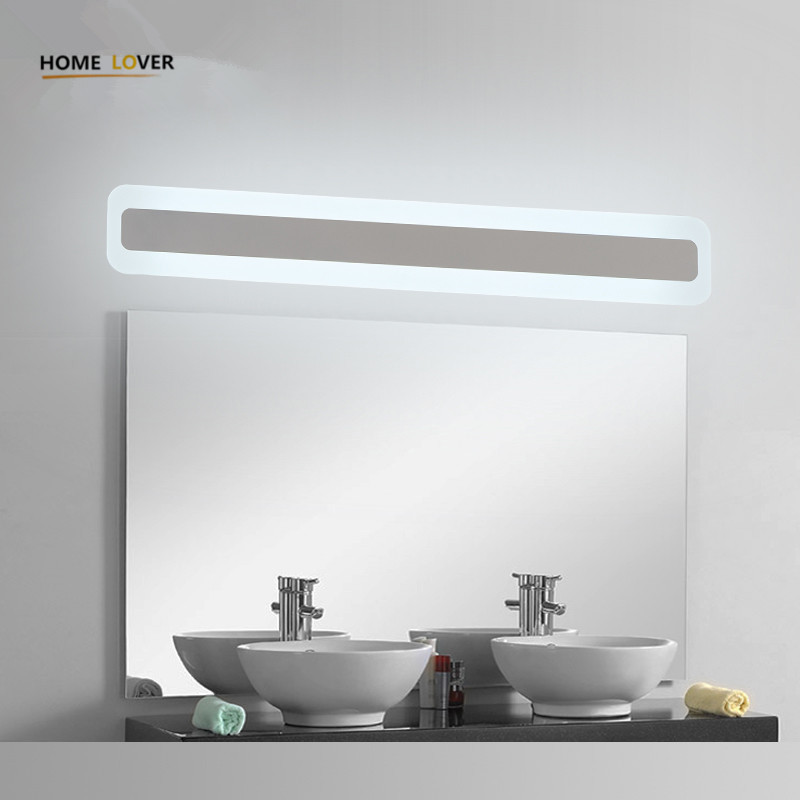 Lampade Specchio Bagno Design.Modern Bathroom Toilet Led Front Mirror Lights For Bathroom
