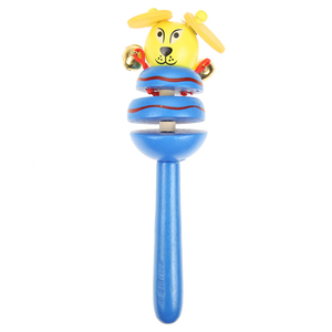 Image 4 - 1pc Baby Toys Rattles Wooden Activity Bell Stick Shaker Baby Toys for Newborns Children Mobiles Rattle Baby Toy Random Color