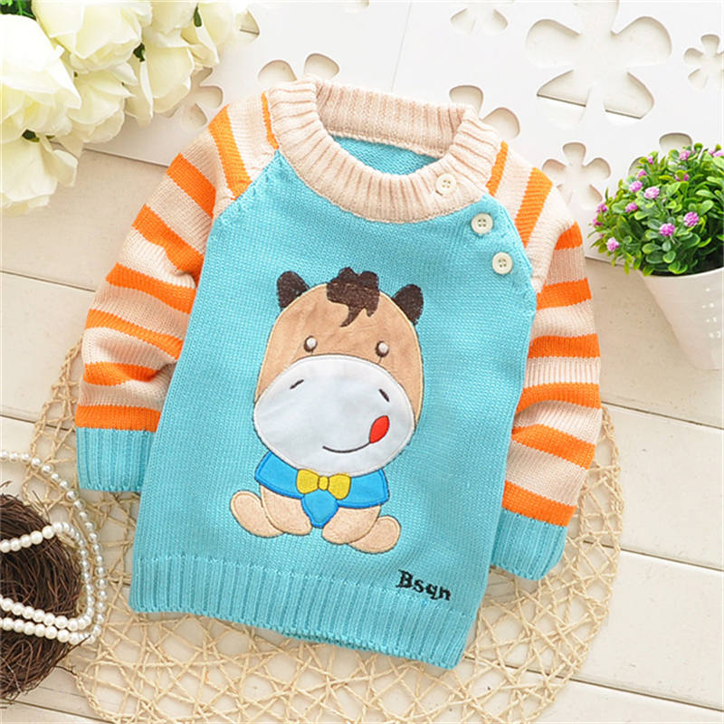 Hot Sale! Autumn/Winter sweater Kids Cartoon pullovers Long sleeves knitwear baby casual outerwear,many styles to choose,V349 B