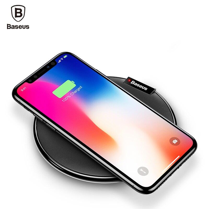 Baseus En Cuir Qi Sans Fil Chargeur Pour iPhone X 8 Plus Samsung Galaxy Note 8 S8 S7 S6 Bord De Bureau Rapide Sans Fil De Charge Pad