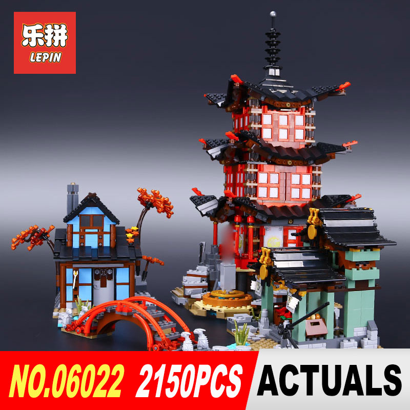 Lepin 06022 2150Pcs Building Series The 70751 Temple of Airjitzu Set Buidling Blocks Assemblage Toys Collectable Kids Model in stock 2150pcs lepin 06022 city of stiix building blocks temple of airjitzu anime figures kids bricks toys clone 70751
