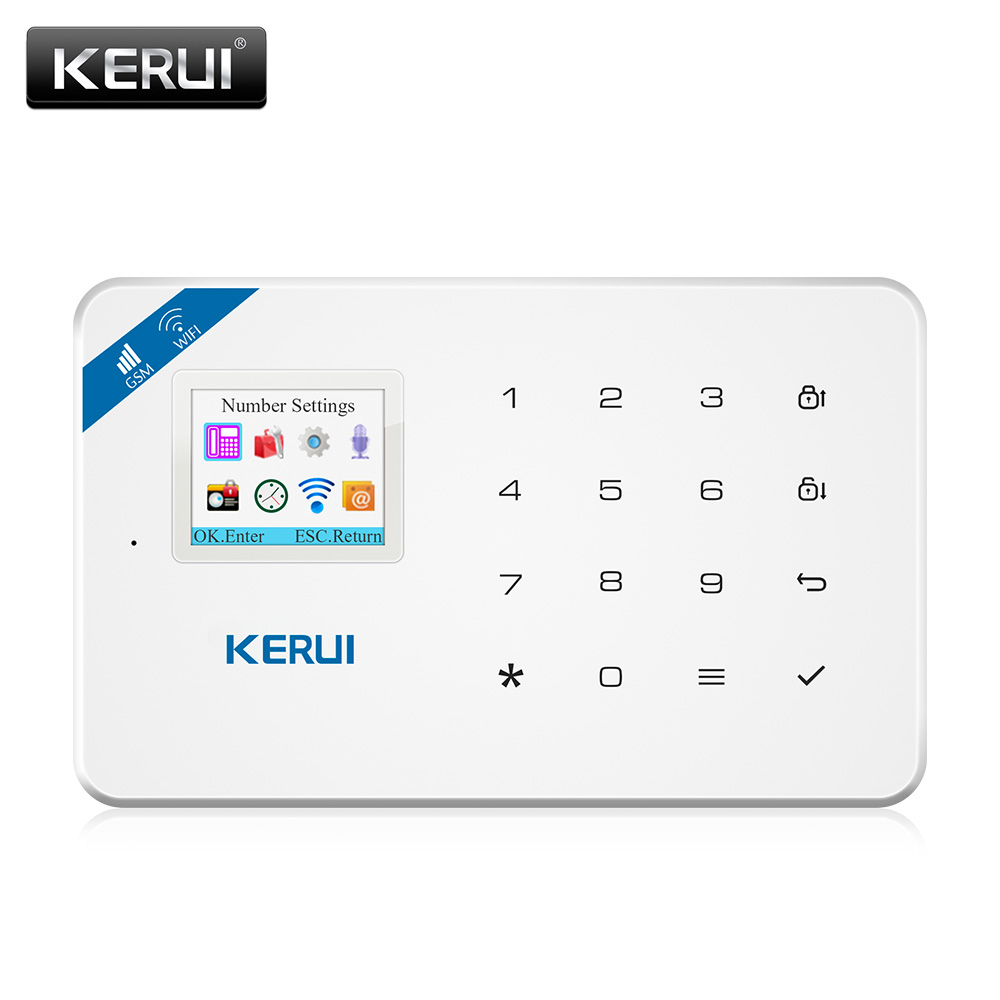 kerui w18 android ios app wireless gsm home alarm system sim smart home burglar security wifi ip