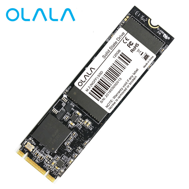 M.2 SSD OLALA M.2 2280 NGFF unidad de estado sólido interna 120 GB 480 GB Disco Duro Ultra fino actualización M.2 SSD para ordenador portátil de escritorio