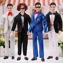 Besegad 4 Sets Fashion Ken Dolls Clothes Assorted Style Handsome Doll Suit Clothes Outfits Costumes for Barbie Dolls Accessories